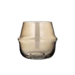 ernst vas/ljuslykta i glas H10,3cm D11cm rökfärgad
