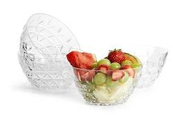 Sagaform picknickskål D12cm transparent 4-pack