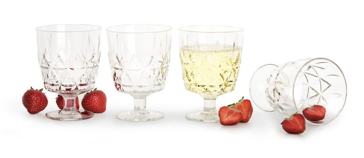 Sagaform picknick glas i 4-pack transparent