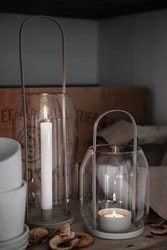 Ernst ljuslykta för värmeljus H 22cm beige