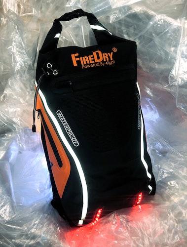 FireDry Lysande Ryggsäck Orange