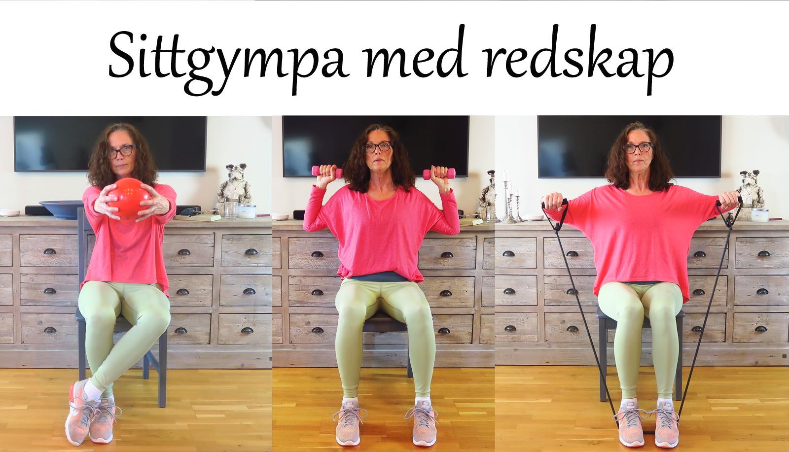Sittgympa med redskap - Gympa Till Musik.nu