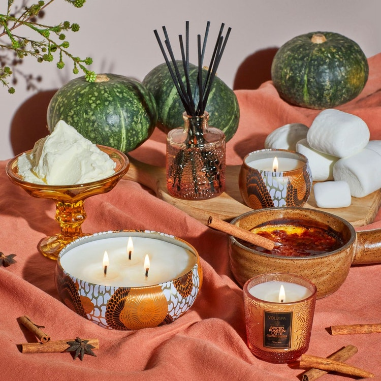 Voluspa - Spiced Pumpkin Latte - Small Jar Candle