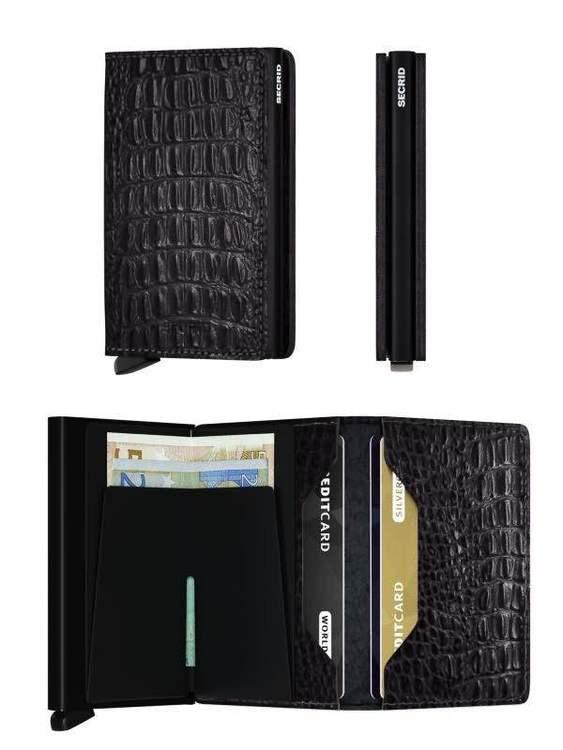 Secrid Miniwallet - Nile Black /  Svart Croco