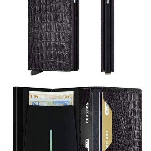 Secrid Miniwallet - Nile Black /  Svart Croco