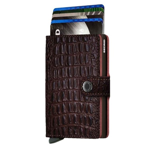 Secrid Miniwallet - Nile Brown / Brun Croco