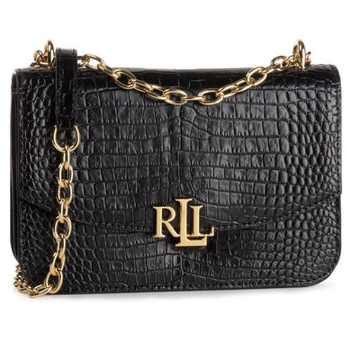 Lauren Ralph Lauren - Madison handväska - Croco Black - 2599:-