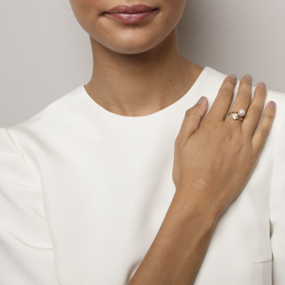 Lily and Rose - Ella pearl ring - Ivory (Guld)