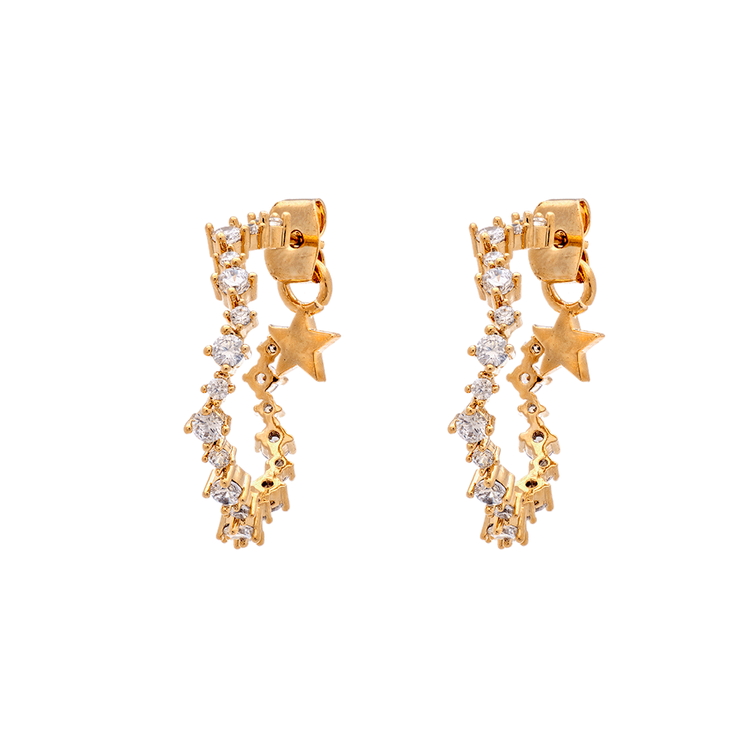 CAPELLA HOOPS EARRINGS – CRYSTAL