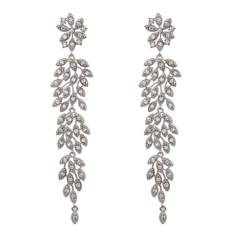 LILY AND RODSE - LAUREL EARRINGS – CRYSTAL