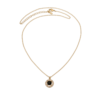 LILY AND ROSE - MISS MIRANDA NECKLACE – JET (GOLD)