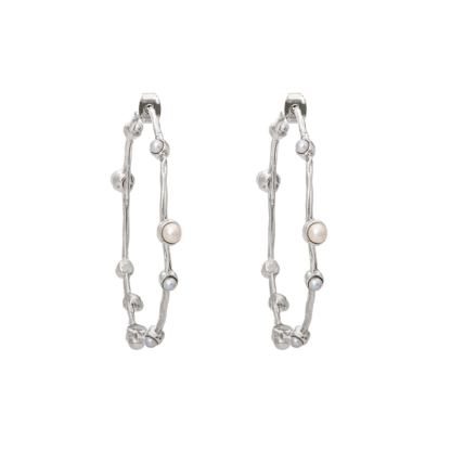 LILY AND ROSE - JAGGER EARRINGS – IVORY (SILVER)