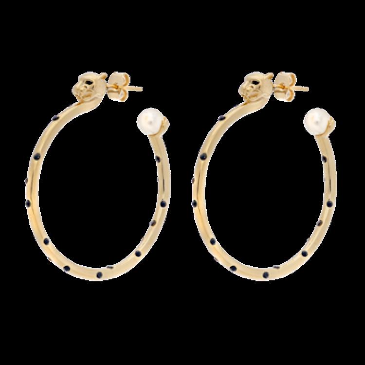 Queen Sheba hoops earrings - Gold