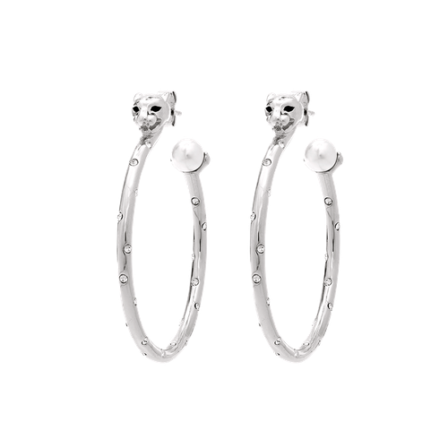 Lily and Rose - Queen Sheba hoops earrings - Silver