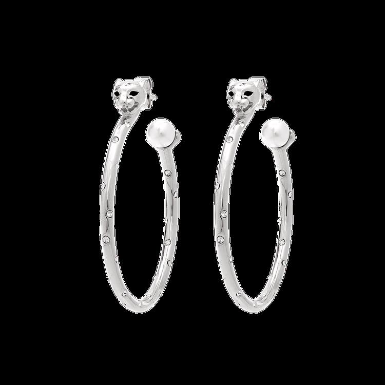 Queen Sheba hoops earrings - Silver