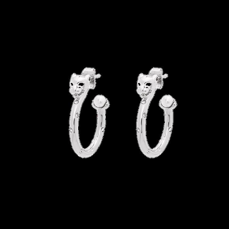 Petite Sheba hoops - Silver