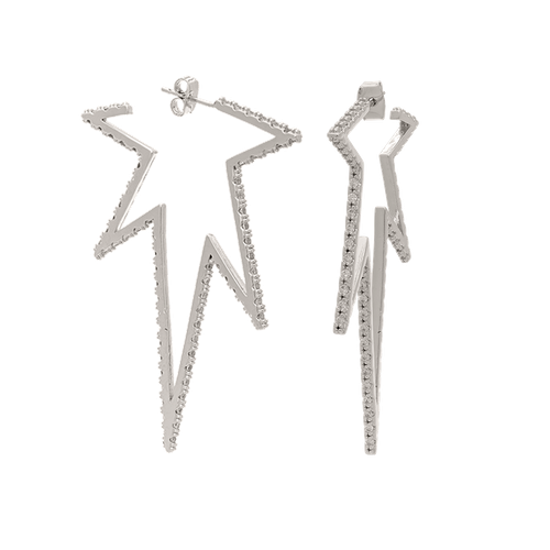 Vega earrings - Crystal (Silver)