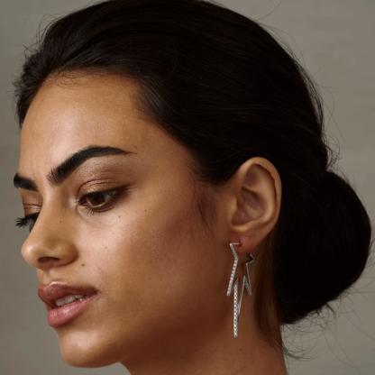 Vega earrings - Crystal (Silver)