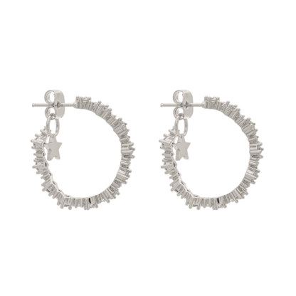 Capella hoops earrings - Crystal (Silver)