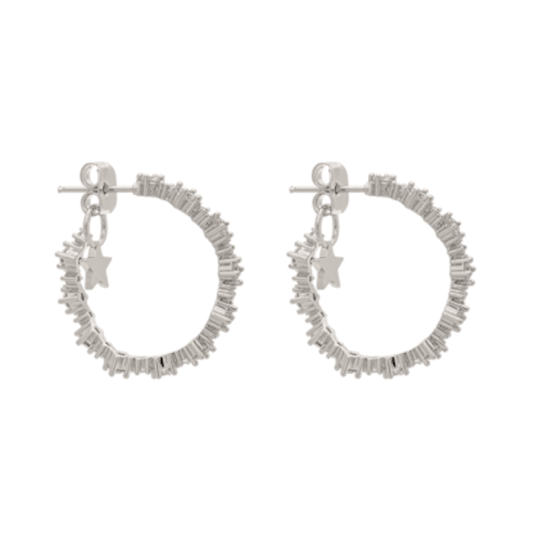 Lily and Rose - Capella hoops earrings - Crystal (Silver)