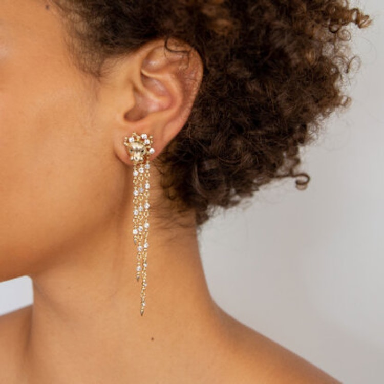 The Lion Queen earrings - Gold
