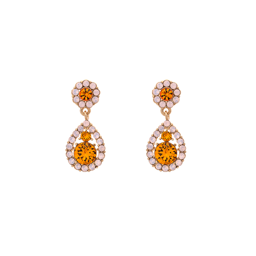 Petite Sofia earrings - Topaz rose