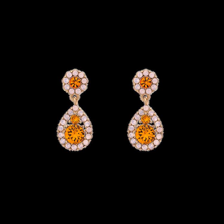 Petite Sofia earrings - Topaz rose