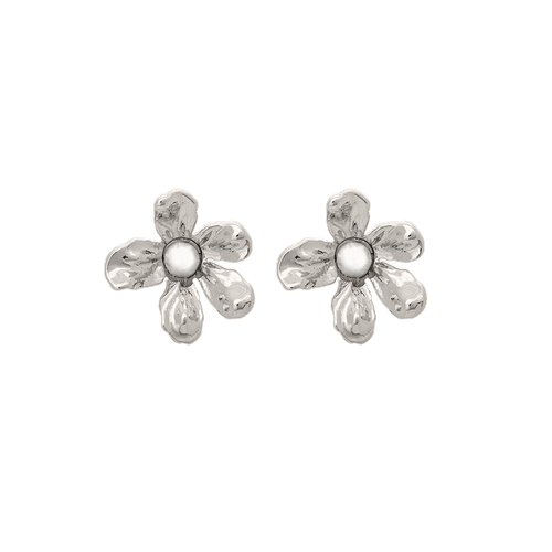 Lily and Rose - Eponine petite earrings - ivory pearl (Silver)