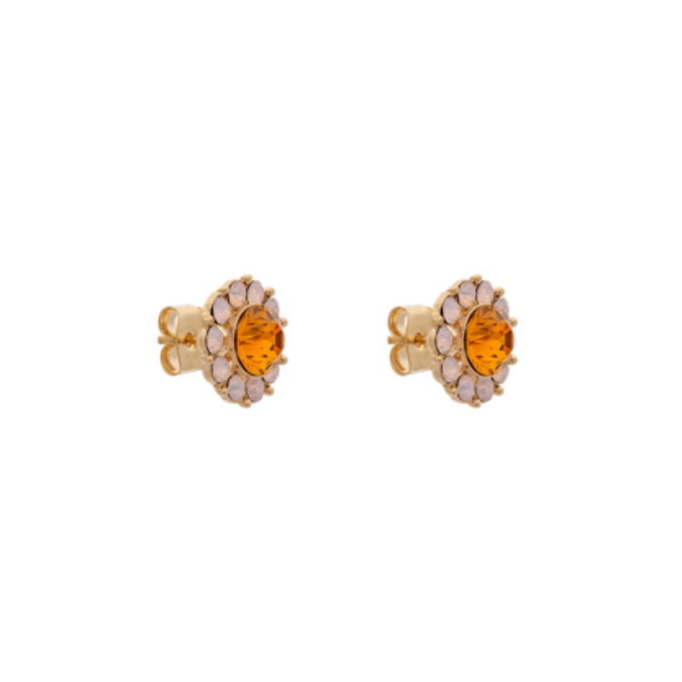 Miss Sofia earrings - Topaz rose