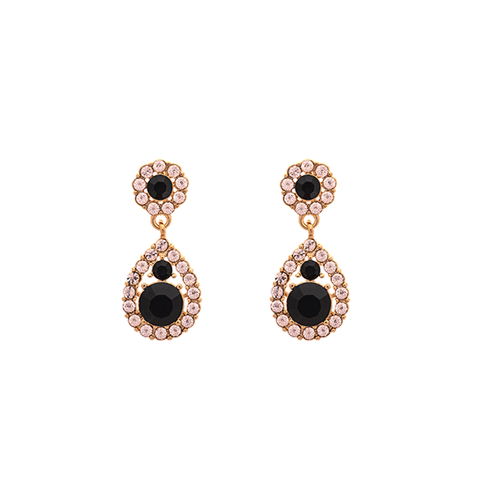 Lily and Rose - Petite Sofia earrings - Jet (Gold)
