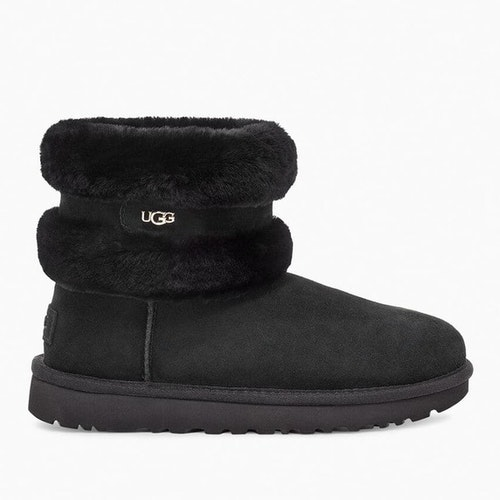 UGG - Fluff mini belted boot - Black