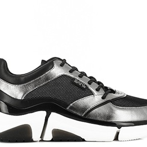 Karl Lagerfeld - VENTURE Dark Grey Leather Sneakers