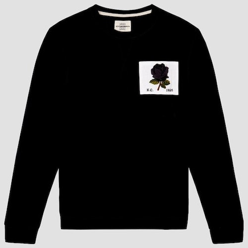 Kent & Curwen - New 1926 Rose Embroidered Sweatshirt - Black