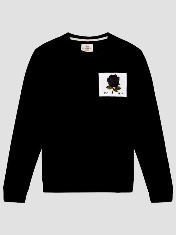 Kent & Curwen - New 1926 Rose Embroidered Sweatshirt - Black