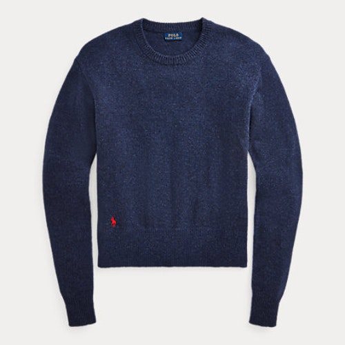 Ralph Lauren - Wool-Blend Crewneck Jumper -Boathouse Navy Heather-  1599