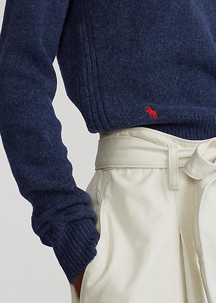 Ralph Lauren - Wool-Blend Crewneck Jumper -Boathouse Navy Heather-  1599