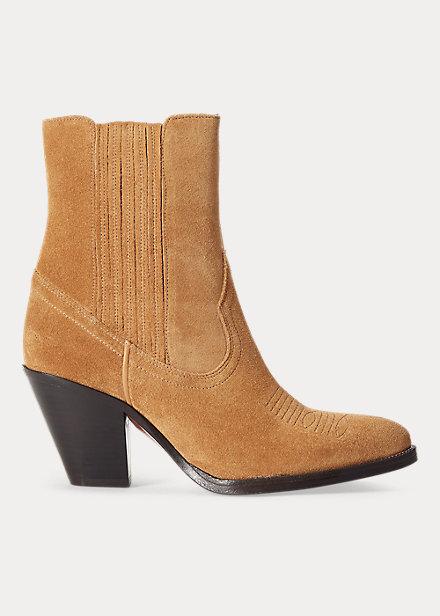 Ralph Lauren - Lowrey Suede Cowboy Boot - Sand - 4999:-