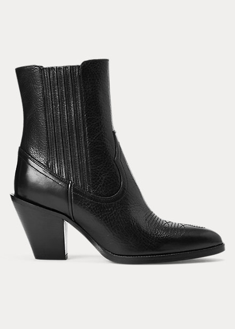 Ralph Lauren - Lowrey Leather Cowboy Boot - Black -  4999:-
