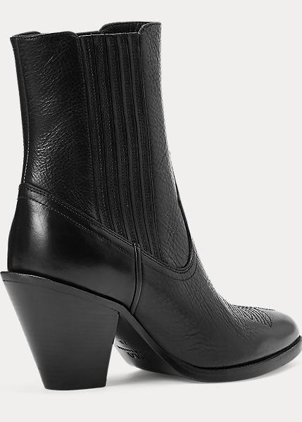 Ralph Lauren - Lowrey Leather Cowboy Boot - Black -  4999:-