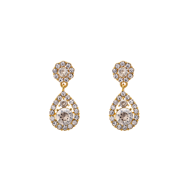 Lily and Rose - PETITE SOFIA EARRINGS – CRYSTAL (GOLD)