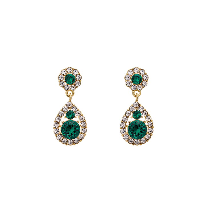 Lily and Rose - PETITE SOFIA EARRINGS – EMERALD