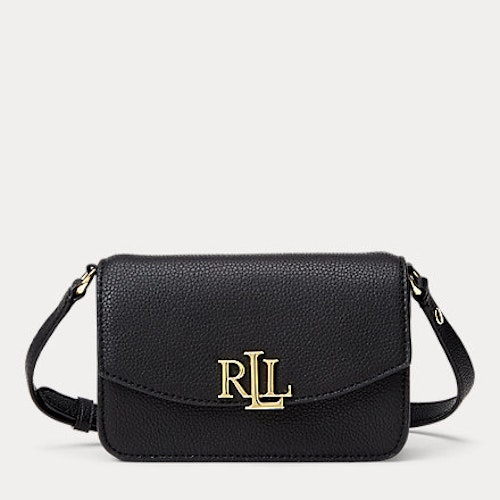 Ralph Lauren - Leather Crossbody Bag - Black