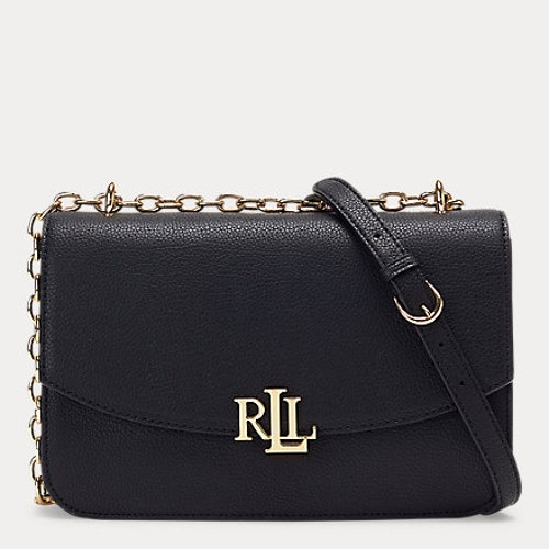 Ralph Lauren - Large Leather Crossbody Bag - Black