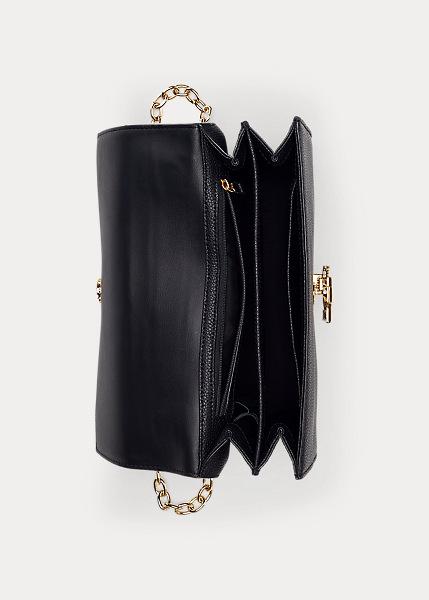 Ralph Lauren - Large Leather Crossbody Bag - Black