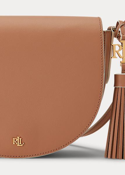 Ralph Lauren - Leather Medium Crossbody - Nude/Vanilla