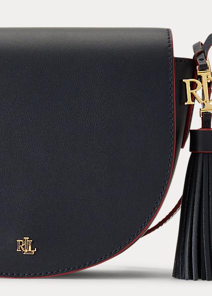 Ralph Lauren - Leather Medium Crossbody - Lauren Navy/Rl 2000 Red