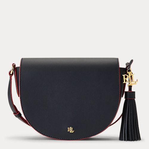 Ralph Lauren - Leather Medium Crossbody - Lauren Navy/Rl 2000 Red
