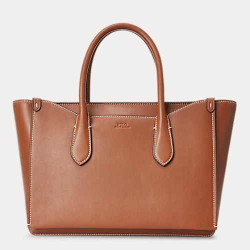 Ralph Lauren - Leather Sloane Satchel - Saddle