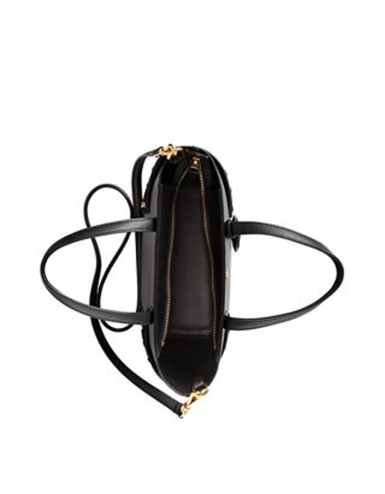 Ralph Lauren - Leather Mini Carlyle Tote - Black