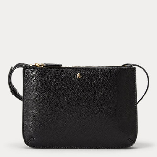 Ralph Lauren - Faux-Leather Carter Crossbody - Black